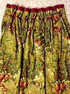 1-Pair-JUNGLE-Leopard-Exotic-Theme-Custom-Pleated-DRAPES-Lined