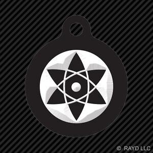 Sasuke Mangekyou Sharingan Keychain Round With Tab Dog Engraved Many