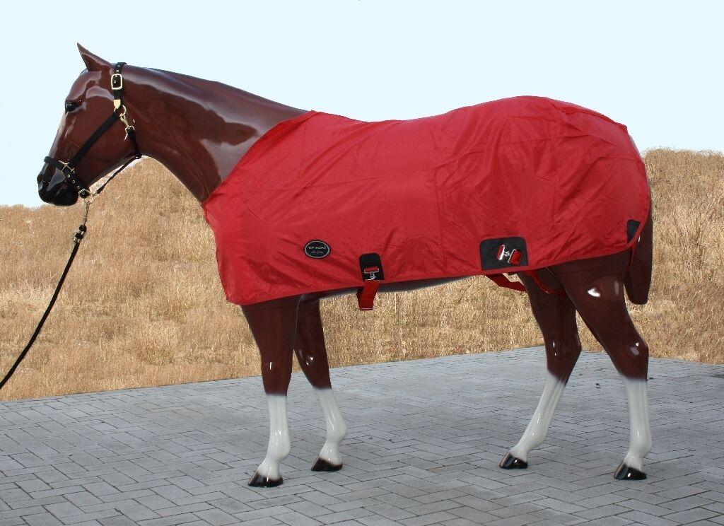 Coperta estiva di topscore ROSSO 125,135,145,155cm NYLON Summer sheet per cavalli