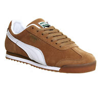 Puma Roma CHESTNUT WHITE GUM EXCLUSIVE Trainers Shoes