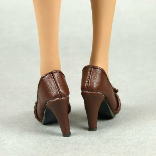 NT TBLeague Female Brown Leather Heel Shoes Kumik Details about  /1//6 Phicen Hot Toys