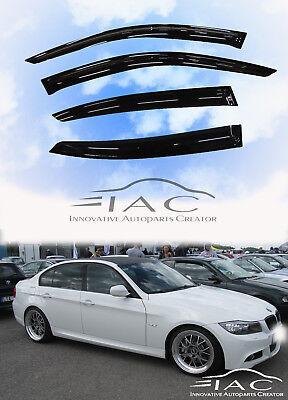 OEMM Set Of 4 Wind Deflectors IN-CHANNEL Type Compatible with BMW 3 SERIES M3 E90 SALOON//SEDAN 4 DOOR 2006 2007 2008 2009 2010 2011 Acrylic Glass Window Deflectors