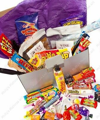 Intellective Generic 'sweet' Large Silver Retro Gift Box Hamper,over 1kg Of Sweets Great Gift Food & Beverages