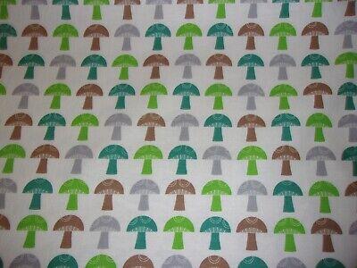 Mushroom Stripe To Market Forest Robert Kaufman Premium Quilt Cotton Fabric YARD