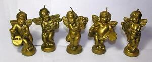 5-VTG-1960-039-S-XMAS-CHERUB-ANGEL-FIGURE-CANDLES-GOLD-PAINTED-ALL-DIFFERENT-3-3-4-034