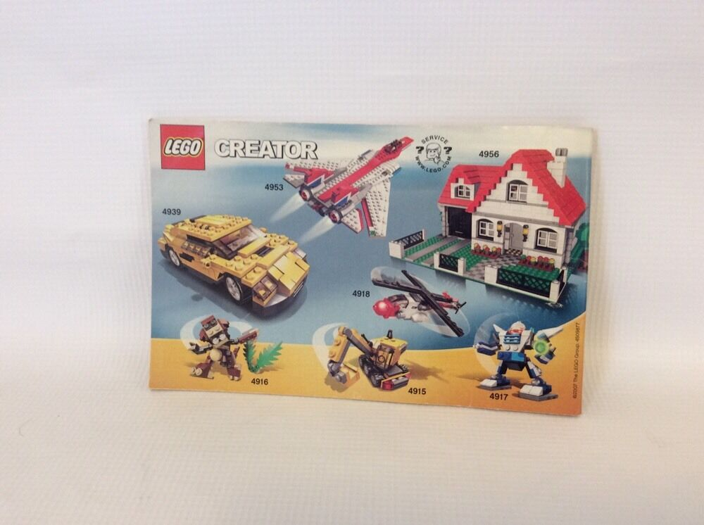 Lego Creator 4939 2 3 In 1 Instruction Manual Only Ebay