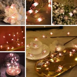 20-LED-Unicorn-Flamingo-String-Light-Fairy-Battery-Christmas-Home-Party-Decor