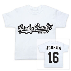 DERBY-COUNTY-Football-Personalised-Baby-Child-T-Shirt