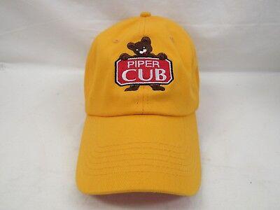 YELLOW HAT GCA AVIATION PILOT PIPER CUB CAP