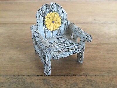 Miniature Dollhouse FAIRY GARDEN Accessories ~ Micro Itty Bitty Daisy Chair NEW