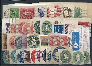 FRANCOBOLLI-1900-1976-STATI-UNITI-USA-LOTTO-RITAGLI-DI-INTERI-POSTALI-D-6052