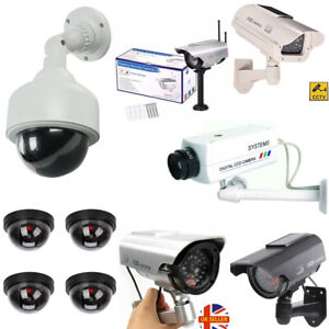 CCTV-Solar-Power-Dummy-Fake-Security-RED-LED-CCD-Camera-Surveillance-Varieties