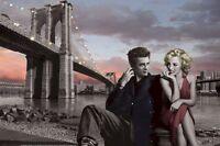 Chris Consani Brooklyn Night 24x36 Art Poster Marilyn Monroe James Dean Bridge