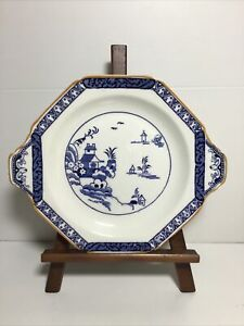 "A Vintage Blue & White Oriental Design ""Alva"" Woods Ware 8.5"" Plate"