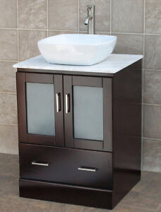 "24"" Bathroom Vanity 24-inch Cabinet WhiteTop Vessel Sink ..."