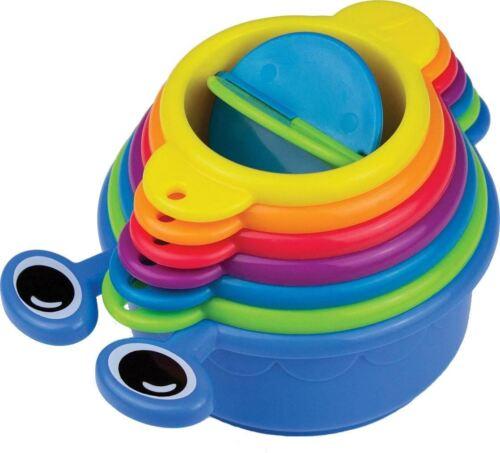 Munchkin Raupen Becher Wasser Spielzeug Baby//Kind Badespaß Badewanne Neu