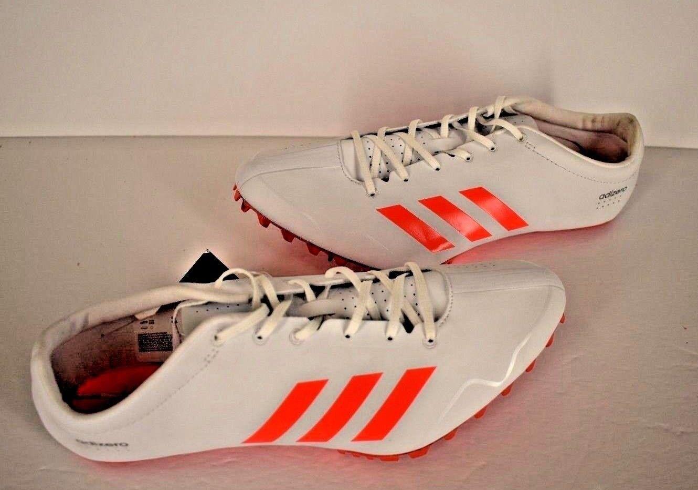 Adidas adizero Prime SP Sprint Track Spikes White/Orange (BB4117) Sz 12