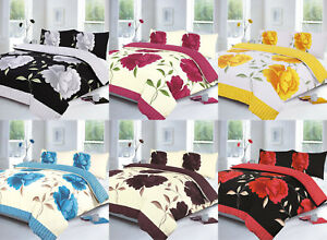 Polycotton-ROSALEEN-Printed-Beautifully-Designed-Duvet-Cover-Set