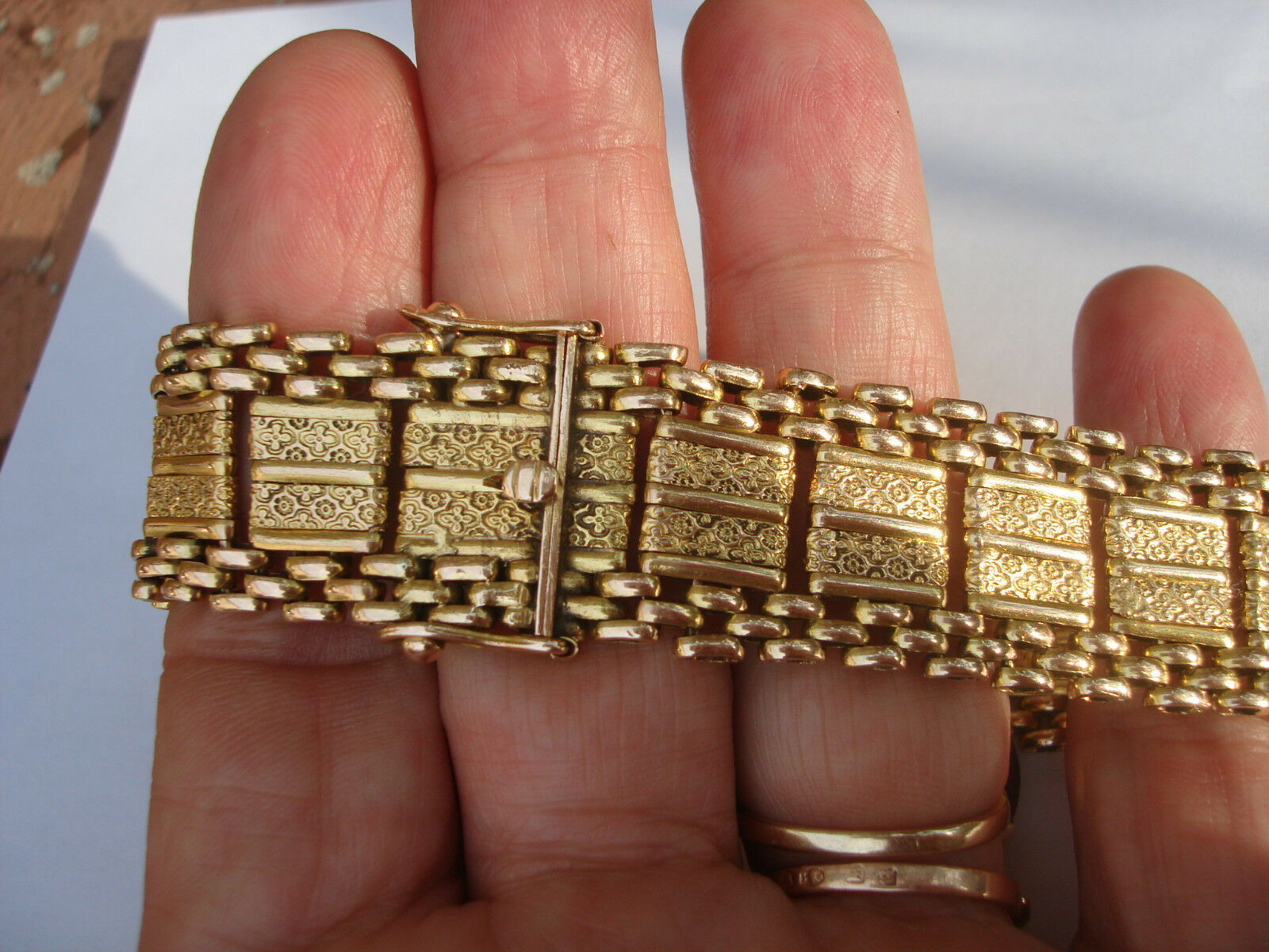 Vintage Rare 30's Beautiful 14K Solid Yellow gold Heavy 61.5Gram Bracelet 8.5  L