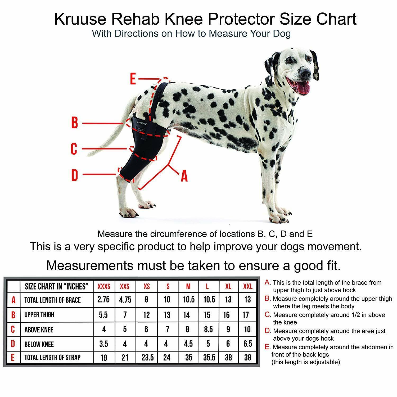 Kruuse Rehab Knee Predector For Dogs - Sizes XXL - Left