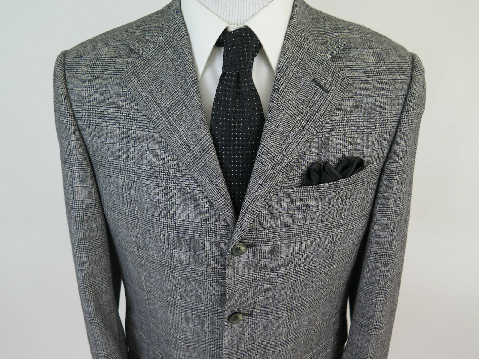 Canali Exclusive Special Edition Winter Tale 160s Plaids Sport Coat 40 R