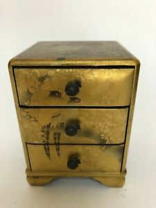 Japanese-antique-wooden-Lacquered-TANSU-Small-Chest-of-Drawer-b263