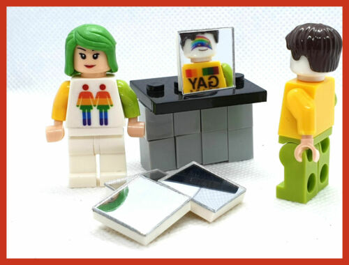 Toy Mirror Tile New,Building Blocks,Bricks,Mirrored Mini figure Minifigure