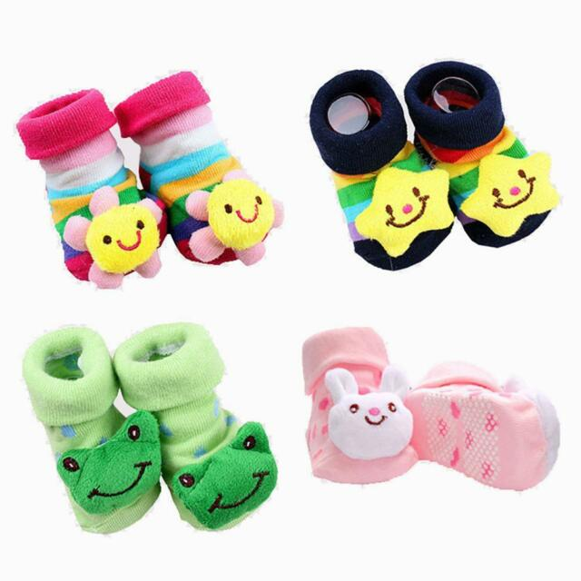 Baby Boy Anti-slip Sock Cartoon proborn Slipper Shoe Boots 0-18