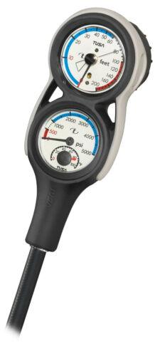 TUSA 3er Konsole SCA-360E Tiefenmesser Finimeter Kompass Thermometer Console