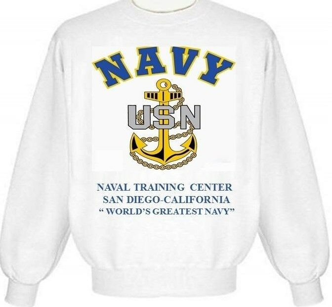 NAVAL TRAINING CENTER SAN DIEGO CALIFORNIA  ANCHOR EMBLEM SWEATSHIRT