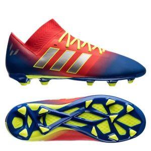 2972ee98f5c0 adidas Nemeziz Messi 18.3 FG 2018 Soccer Shoes Cleats Red Royal Kids ...