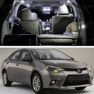 4 led white light interior package deal for toyota corolla - 2015 toyota corolla interior lights ...