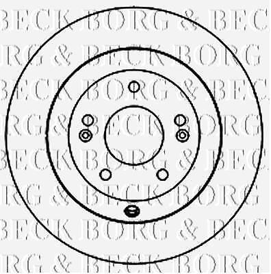 Arrière Disques De Frein Paire pour KIA GENUINE OE Borg /& Beck BBD5160
