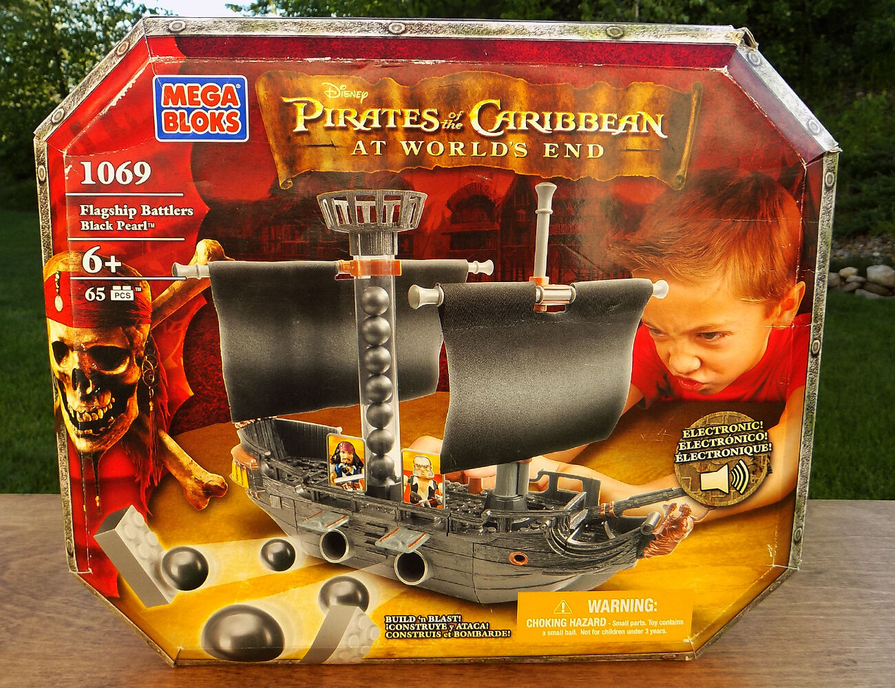 Part for Sales-Mega Bloks Pirates of the Caribbean Black Pearl