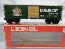 Lionel 7802 Canada Dry Ginger Ale Boxcar..Vintage 1977 & Uncataloged 1976..NIB