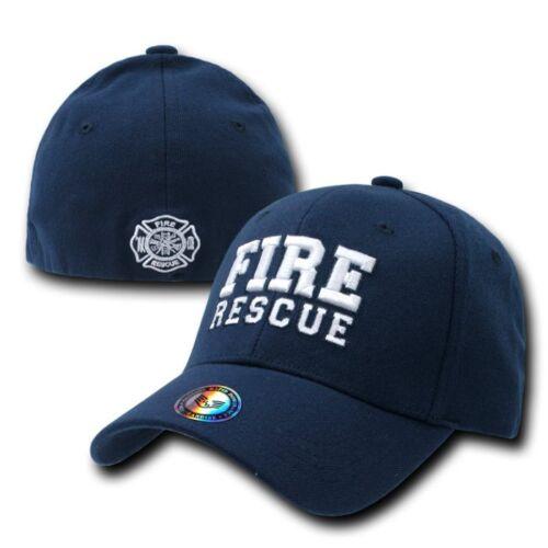 Fire Rescue Pompier Firefighter FD Flex Baseball Ball Cap Caps Casquette Chapeau sz L//XL