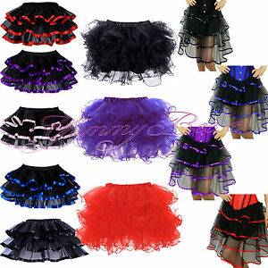 Skirt-Frilly-Tutu-Fancy-Dress-Burlesque-Costume-Womens-Plus-Size-6-28-Hen-Party