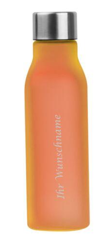 Farbe orange 0,55l Kunststoff Trinkflasche mit Gravur