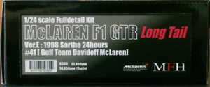 Model Factory Hiro 1 24 Mclaren F1 GTR Cola Larga Ver.e 1998 SARTHE 24hours