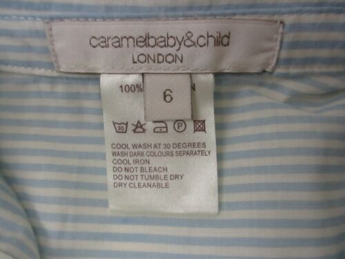 Ages 3 /& 6 Months RRP £55 Authentic Caramel Baby /& Child Short Sleeve Shirt