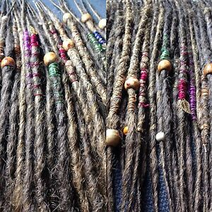 10x-CUSTOM-HANDMADE-SYNTHETIC-DREADLOCKS-DREADS-WITH-WRAPS-amp-BEADS-FITTING-KIT