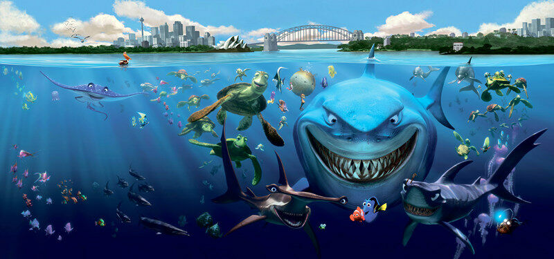 3D sharkcute 525 WallPaper Murals Wall Print Decal Wall Deco AJ WALLPAPER