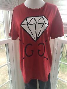 0b8882e970f GUCCI 17SS Ghost GG diamond print tee T shirt Men s Red L