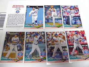 Details about 2018 LOS ANGELES DODGERS 60th ANNIVERSARY 6/12/18 SGA 90's  7-CARD SET #4 SEALED