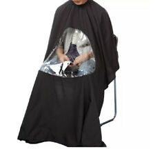 5pcs Hair Cutting Barber Capes With Window Phone Viewing Apron Stylist Gown USA