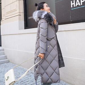 brand new e9aa2 6cb0a Dettagli su Giacca donna piumino cappuccio comodo grigio caldo parka  morbido 1328