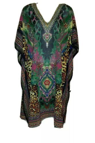 Indian Tropical Fashion Sheer Embellished Tunic/Ka
