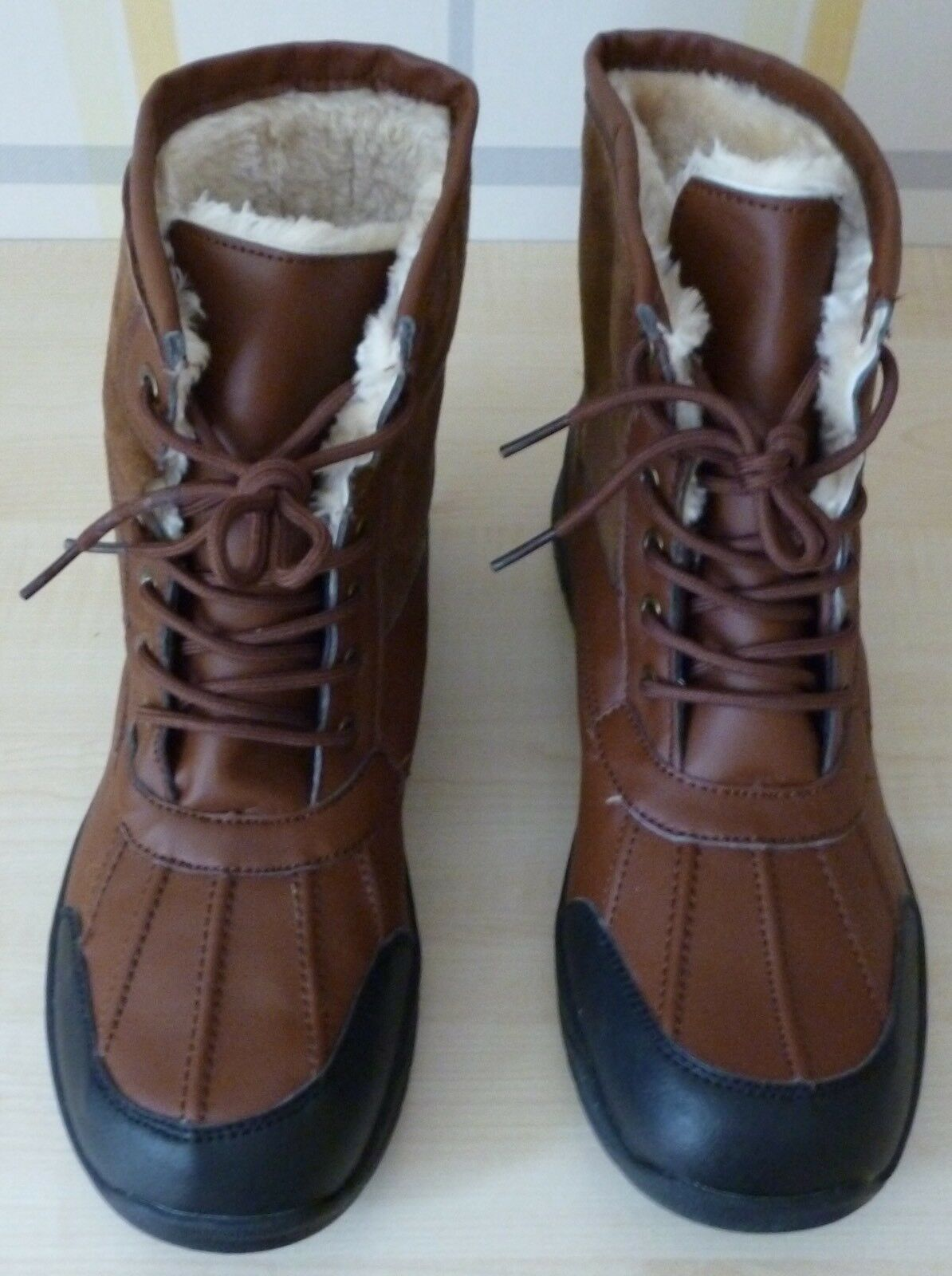 MENS NEW IDEAL FULLY FUR LINED BOOTS IDEAL NEW FOR RAIN & SNOW SIZE 9/43 bc9cd8