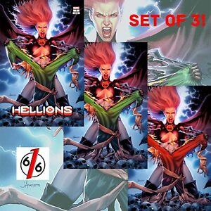 HELLIONS-3-JAY-ANACLETO-Exclusive-Variant-Set-of-3-Goblin-Queen-NM-X-Men