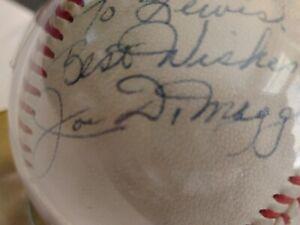 Joe dimaggio signed baseball.  1940s